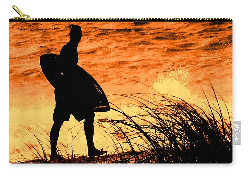 Florida Carry-all Pouch featuring the photograph Wave Search by Ian MacDonald