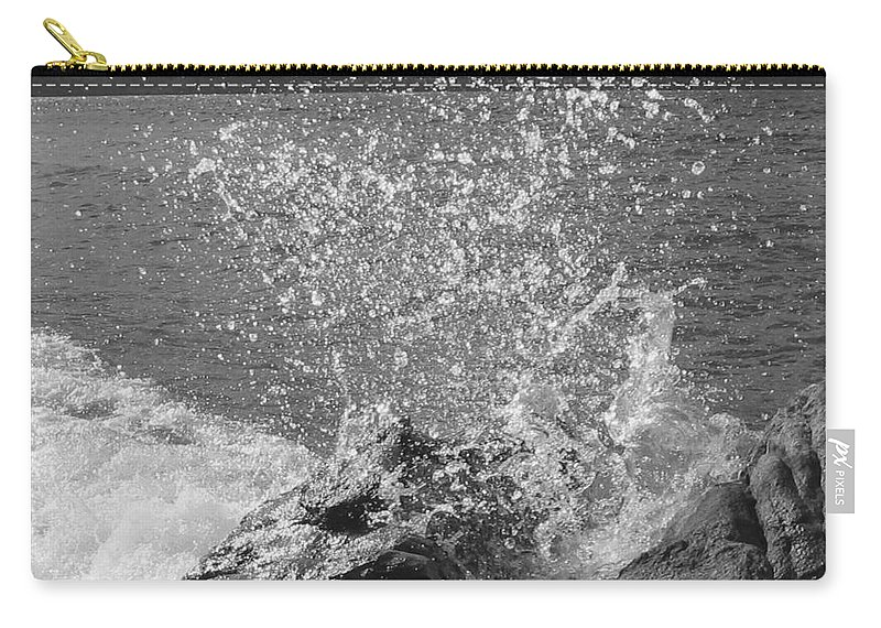 Wave Carry-all Pouch featuring the photograph Wave Spray by Leone Lund