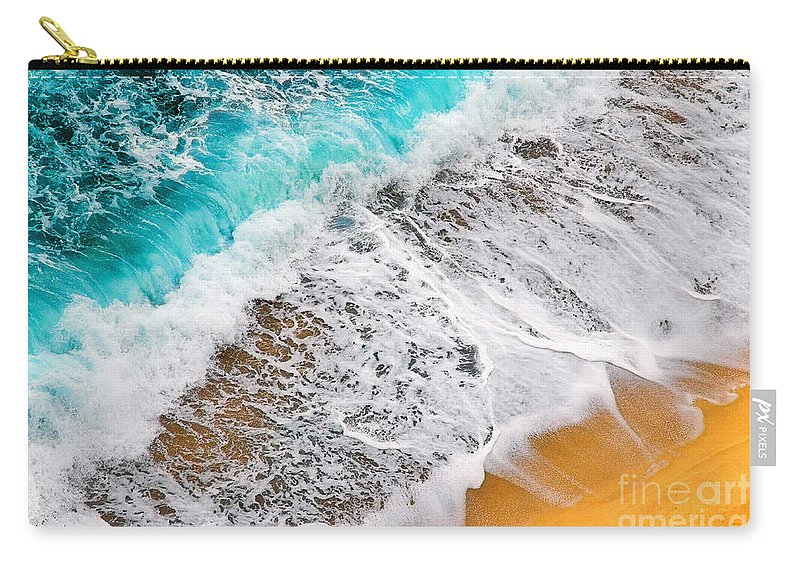 Waves Carry-all Pouch featuring the photograph Waves Abstract by Silvia Ganora