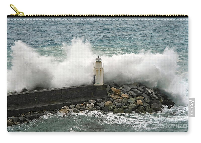 Agitated Carry-all Pouch featuring the photograph Waves by Antonio Scarpi
