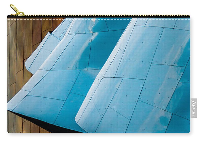 2008 Carry-all Pouch featuring the photograph Waves Of Blue by Melinda Ledsome
