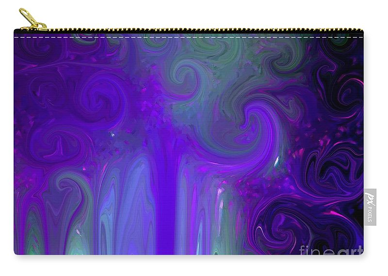 Abstract Carry-all Pouch featuring the photograph Waves Of Violet - Abstract by Susan Carella