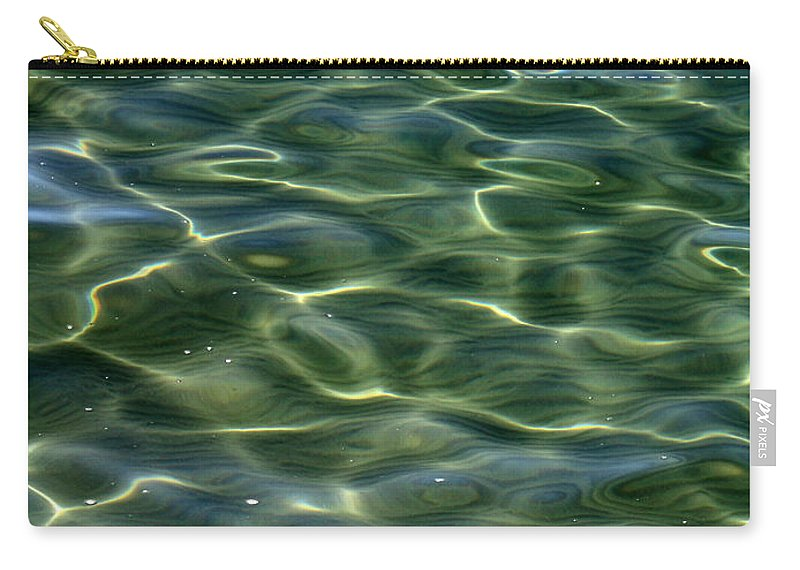Water Carry-all Pouch featuring the photograph Waves On Lake Tahoe by Carol Groenen