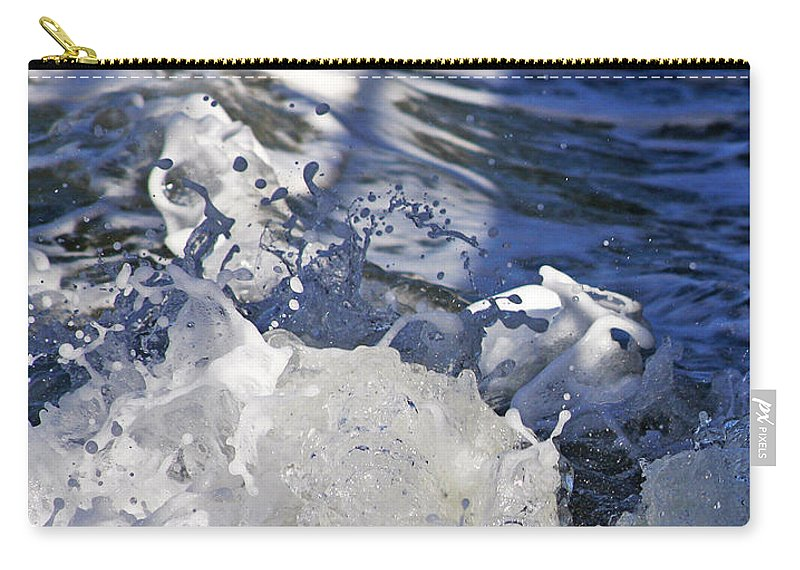 Beach Carry-all Pouch featuring the photograph Waves by Steve Ball