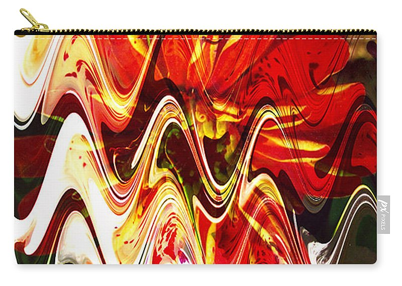 Digital Image Carry-all Pouch featuring the digital art Waves by Yael VanGruber