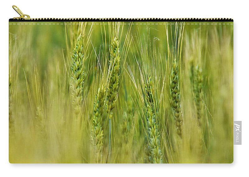 Waving Wheat Carry-all Pouch featuring the photograph Waving Wheat by Skip Hunt