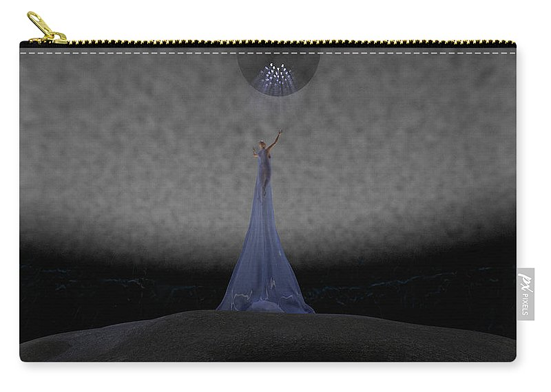 Way Carry-all Pouch featuring the digital art Way To Blue by Brainwave Pictures
