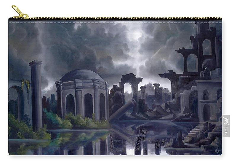 Ruins Carry-all Pouch featuring the painting We Lost Our Empire A Long Time Ago by James Christopher Hill