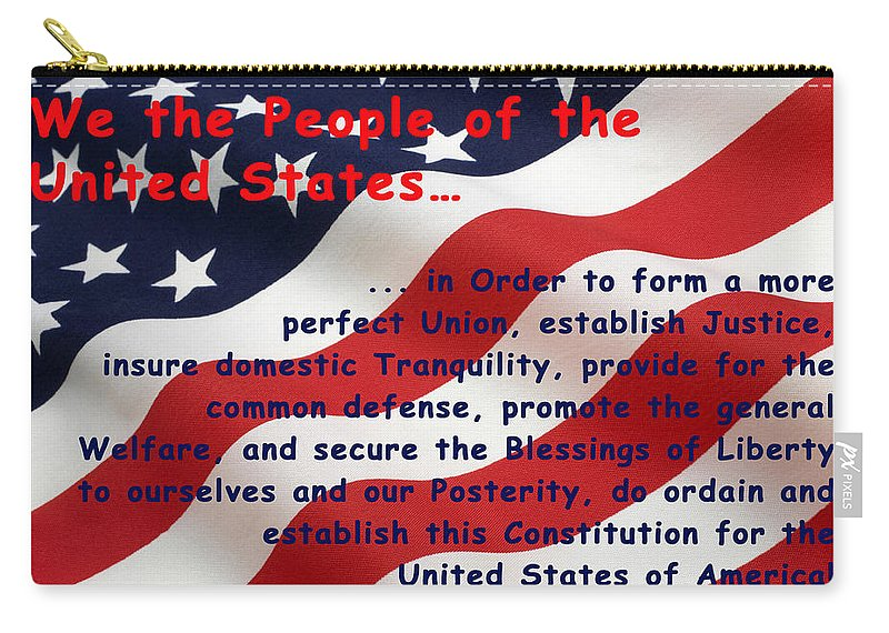 We The People Carry-all Pouch featuring the digital art We The People by Barbara Snyder