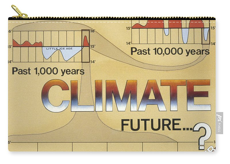 1975 Carry-all Pouch featuring the photograph Weather: Climate Change by Granger