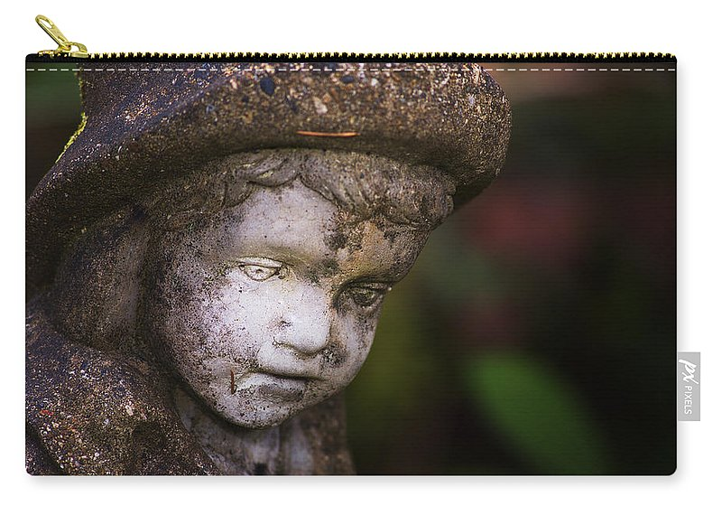 Boy Carry-all Pouch featuring the photograph Weathered Boy by Belinda Greb