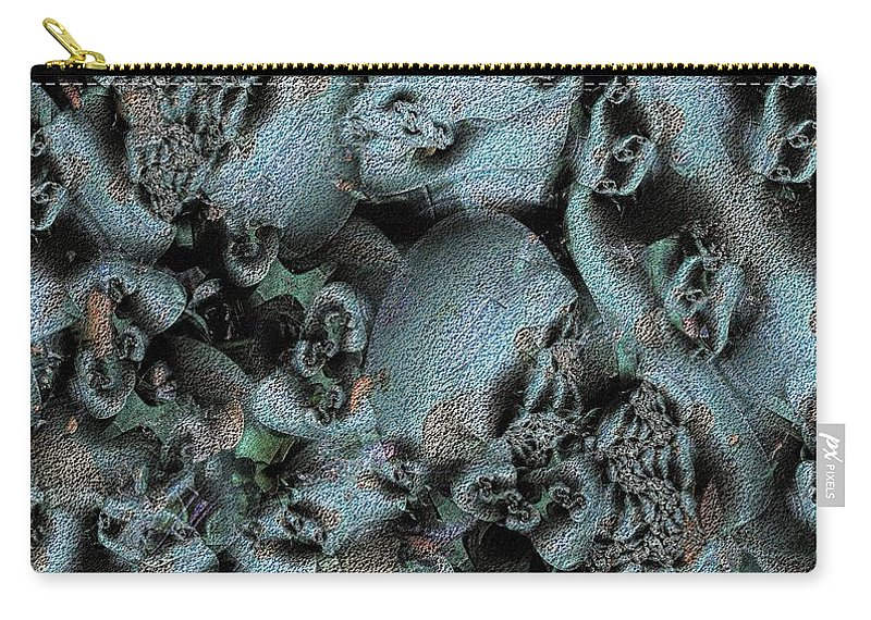 Abstract Carry-all Pouch featuring the digital art Weathered by Ron Bissett