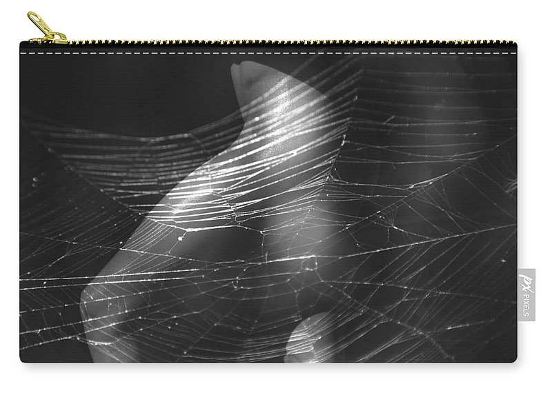 Legs Carry-all Pouch featuring the photograph Web Of Legs by Deprise Brescia