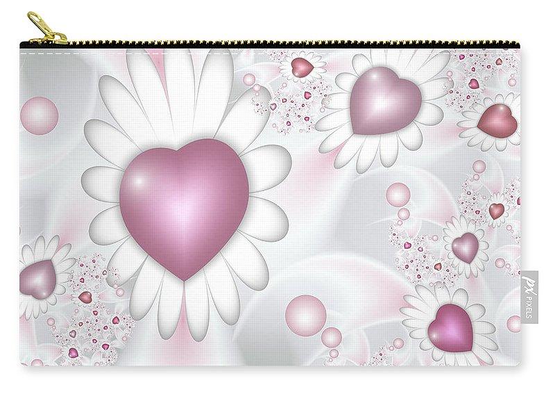 Digital Art Carry-all Pouch featuring the digital art Wedding Day by Gabiw Art