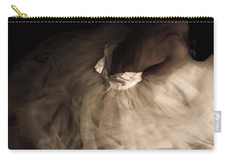 Weddings Carry-all Pouch featuring the photograph Wedding Jitters by Kristie Bonnewell