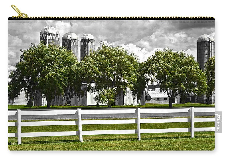 Weeping Carry-all Pouch featuring the photograph Weeping Willow Green by Frozen in Time Fine Art Photography