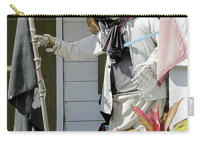Statue Carry-all Pouch featuring the photograph Welcome To Key West Neighbor by Bob Slitzan