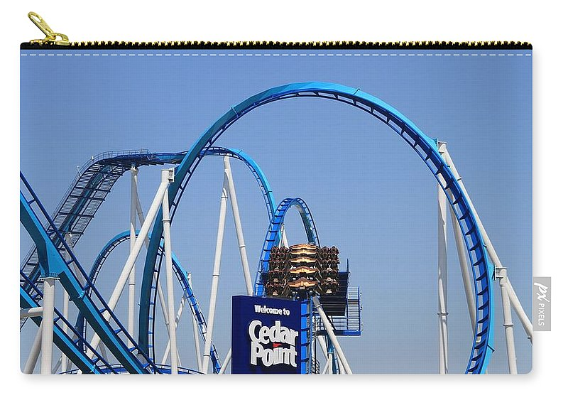 Cedar Point Roller Coasters Carry-all Pouch featuring the photograph Welcome To Cedar Point by Dan Sproul