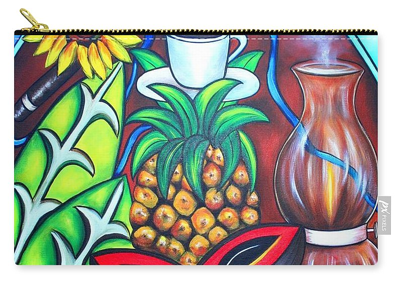 Cuban Paintings Carry-all Pouch featuring the painting Welcome To Here And Now by Annie Maxwell