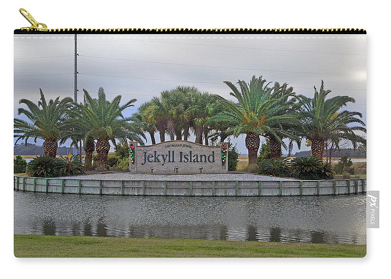 Jekyll Carry-all Pouch featuring the photograph Welcome To Jekyll Island by Betsy Knapp