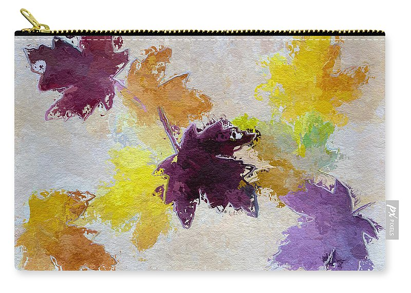 Heidi Smith Carry-all Pouch featuring the painting Welcoming Autumn by Heidi Smith