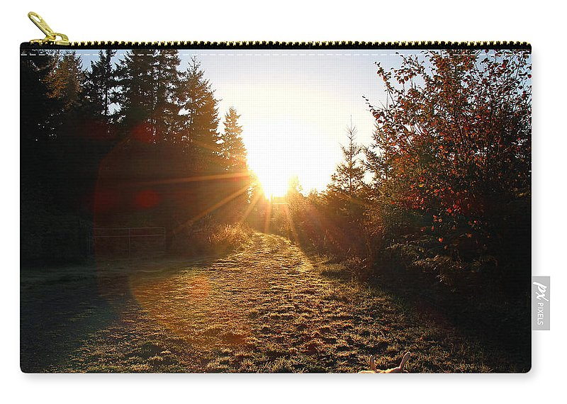 Dawn Carry-all Pouch featuring the photograph Welcoming Dawn by Rory Sagner