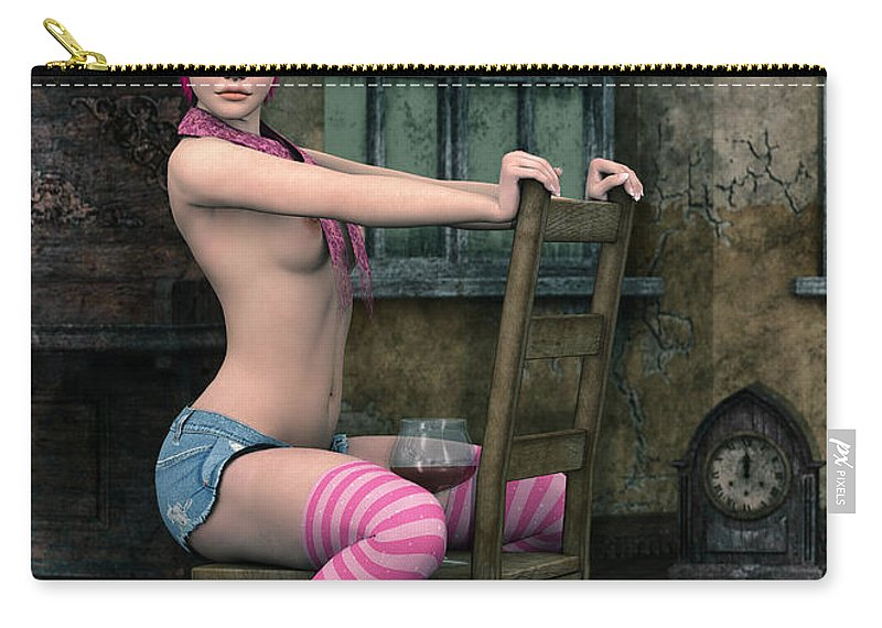 3d Carry-all Pouch featuring the digital art Well Dressed by Jutta Maria Pusl