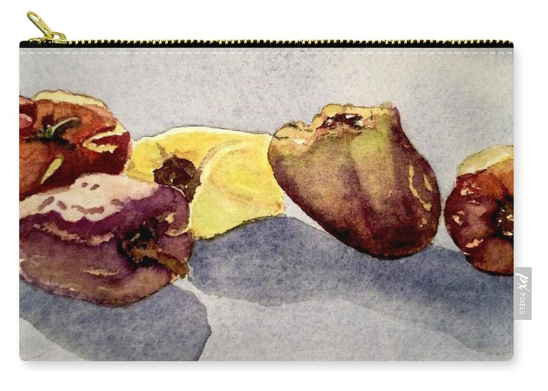 Peppers Carry-all Pouch featuring the painting We'll Protect You by Nicole Curreri