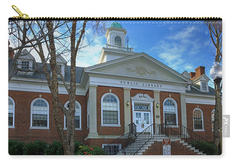 West Avenue Library Carry-all Pouch featuring the photograph West Avenue Library by Jerry Gammon
