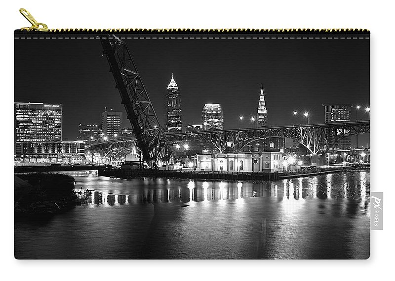 Desolate Carry-all Pouch featuring the photograph West Bank Of The Flats by Frozen in Time Fine Art Photography