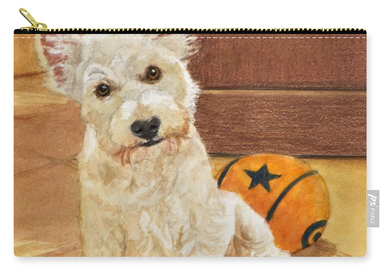 West Highland Terrier Carry-all Pouch featuring the painting West Highland Terrier Puppy by Phyllis Tarlow