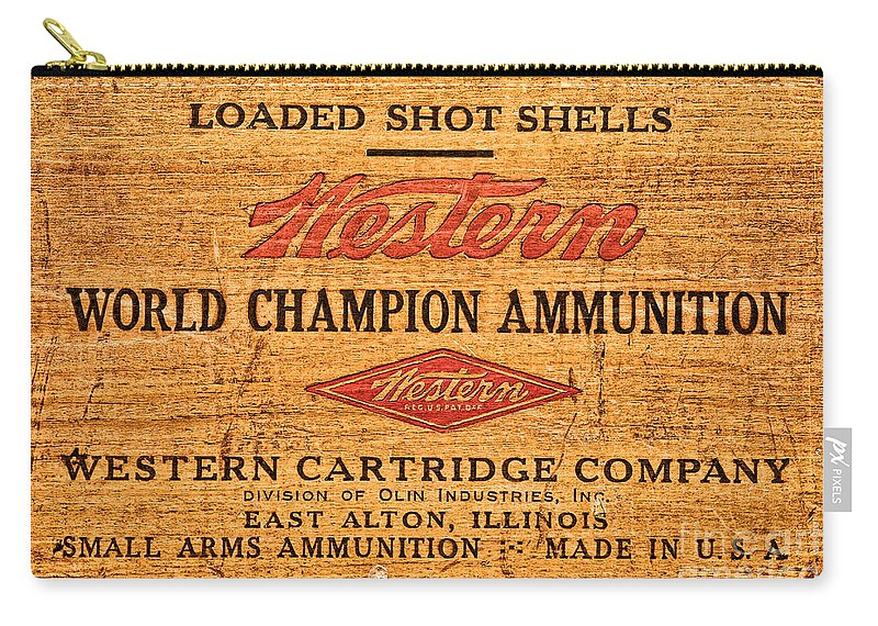 Antique Carry-all Pouch featuring the photograph Western Ammunition Box by Olivier Le Queinec