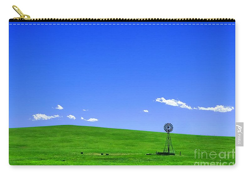 Prairie Carry-all Pouch featuring the photograph Western Hill by Olivier Le Queinec