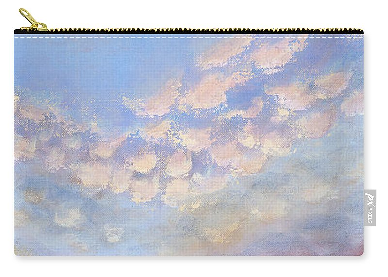 Landscape Carry-all Pouch featuring the painting Western Sunset by Margaret Bobb