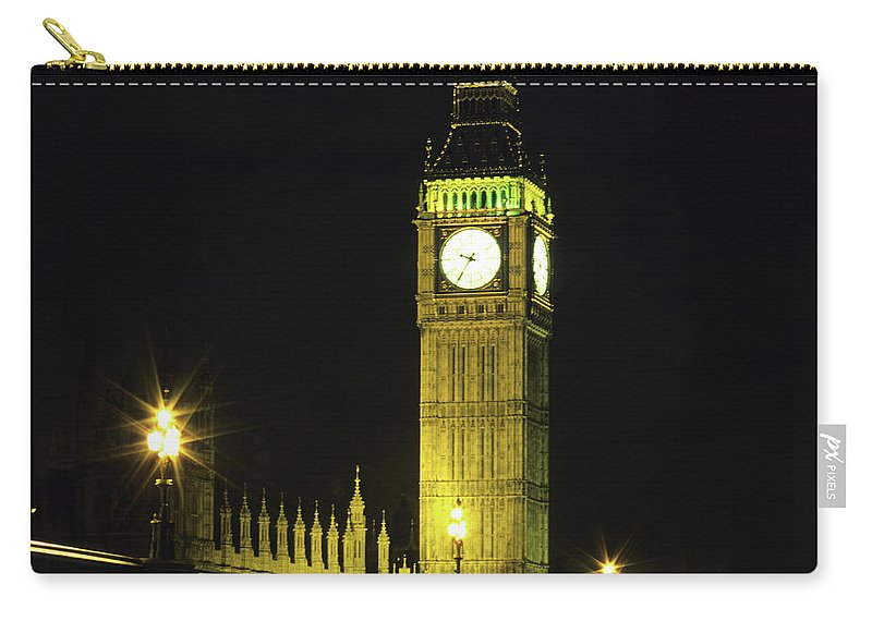 Gothic Style Carry-all Pouch featuring the photograph Westminster Bridge And Big Ben At by Hisham Ibrahim