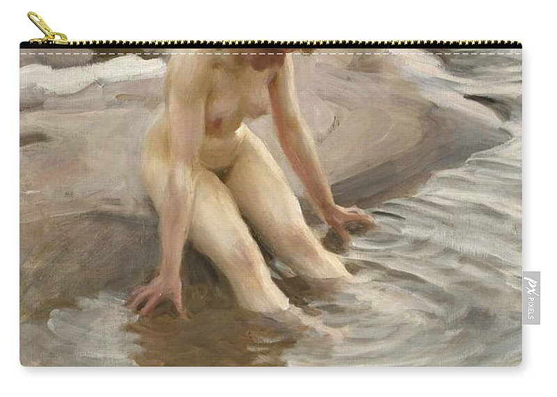Wet Carry-all Pouch featuring the digital art Wet by Anders Zorn