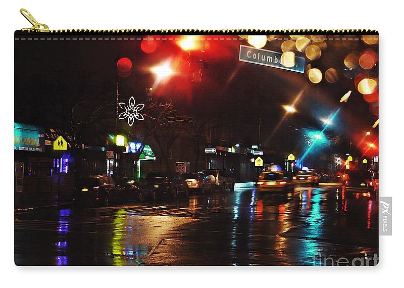City Carry-all Pouch featuring the photograph Wet City by Sarah Loft