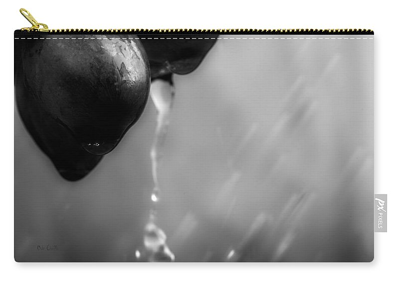 Rain Carry-all Pouch featuring the photograph Wet Grapes by Bob Orsillo