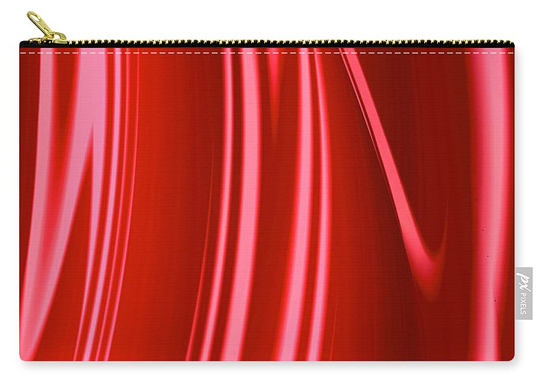 Abstract abstract Art fractal Design girl's Fashion women's Fashion abstract Art fashion Design abstract Photography Fashion Carry-all Pouch featuring the photograph Wet Red by Bill Owen