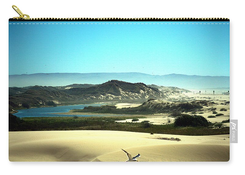 Barbara Snyder Carry-all Pouch featuring the digital art Wetlands In The Dunes by Barbara Snyder