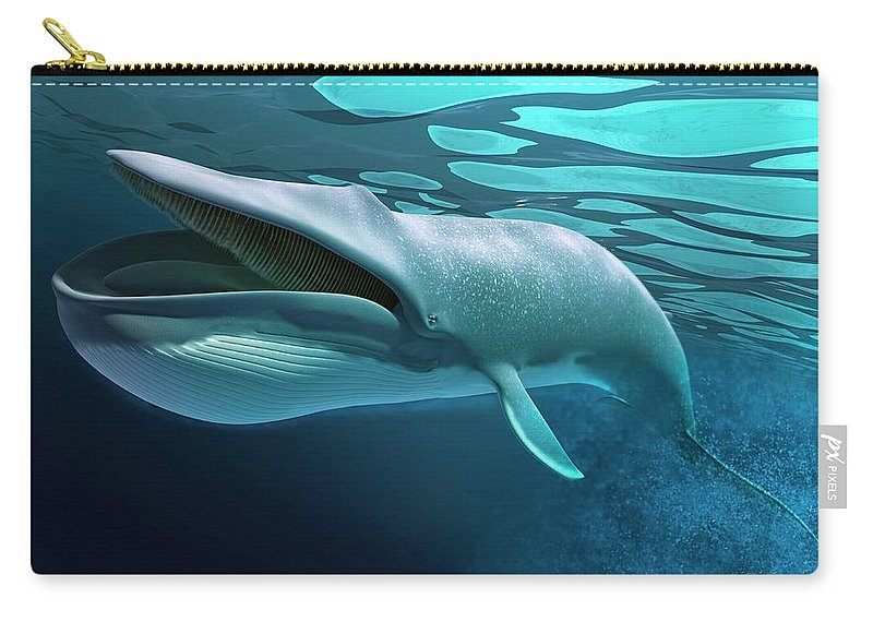 Underwater Carry-all Pouch featuring the digital art Whale, Artwork by Leonello Calvetti