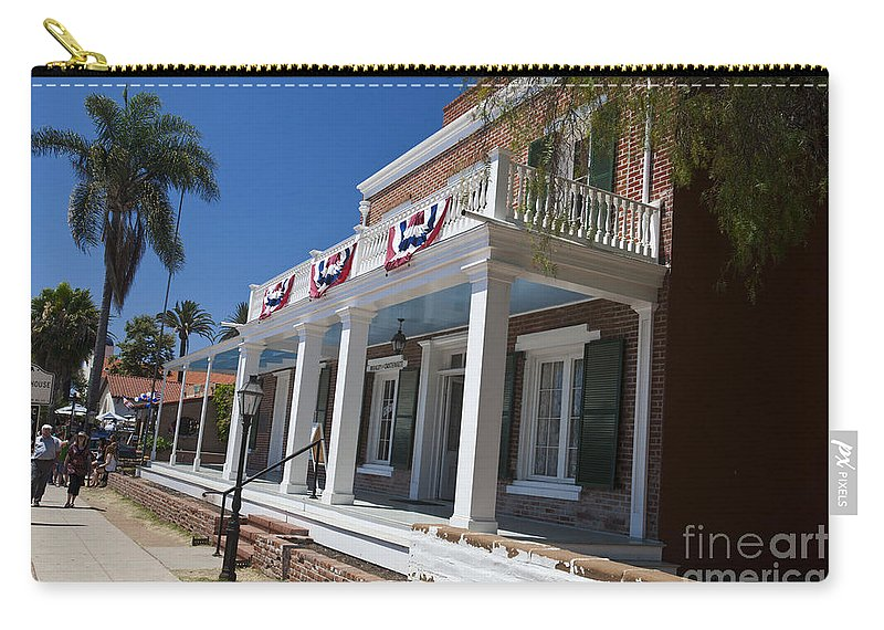Travel Carry-all Pouch featuring the photograph Whaley House Old Town San Diego by Jason O Watson