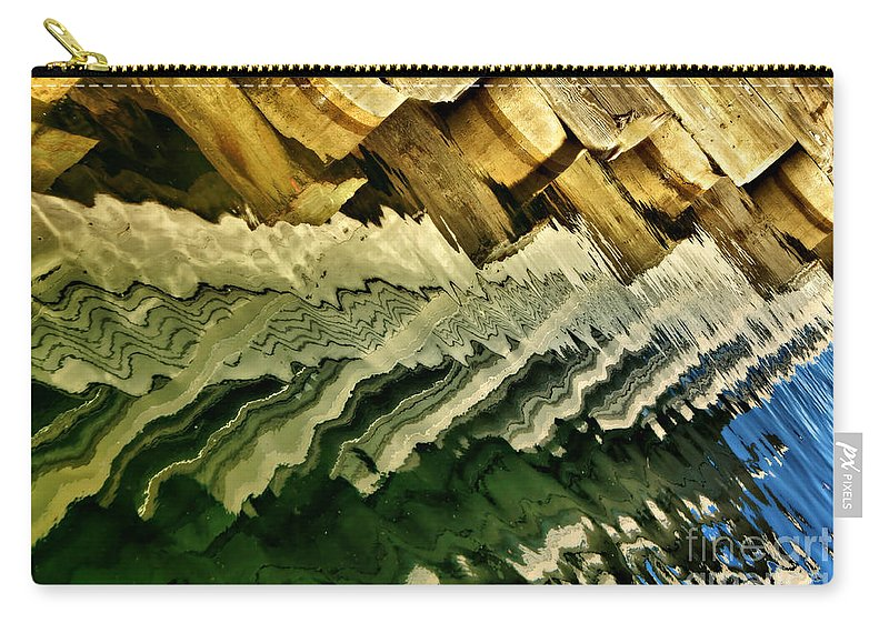 Abstract Carry-all Pouch featuring the photograph Wharf Reflections by Nikolyn McDonald