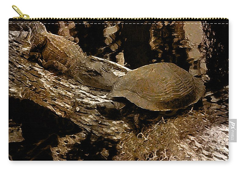 Alligator Carry-all Pouch featuring the photograph What A Crock - Featured In Wildlife Group by Ericamaxine Price