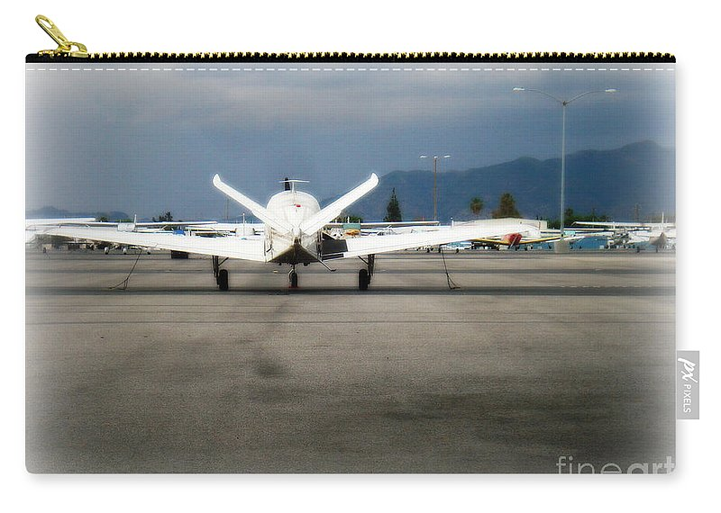 Aviation Carry-all Pouch featuring the photograph What fly girl is dreaming about by De La Rosa Concert Photography