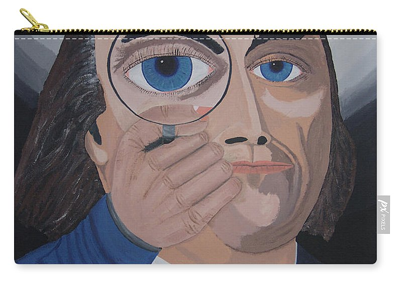 Historical Carry-all Pouch featuring the painting What Have You Done by Dean Stephens