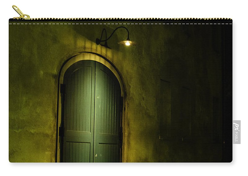 Door Carry-all Pouch featuring the photograph What Is Behind The Green Door? by David Kay