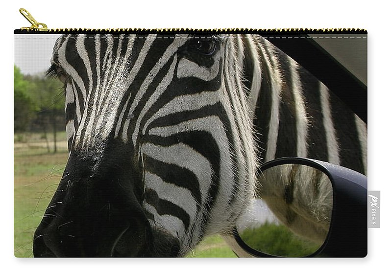 Animal Carry-all Pouch featuring the photograph What Kinda Mpg Do Ya Get by Robert Frederick