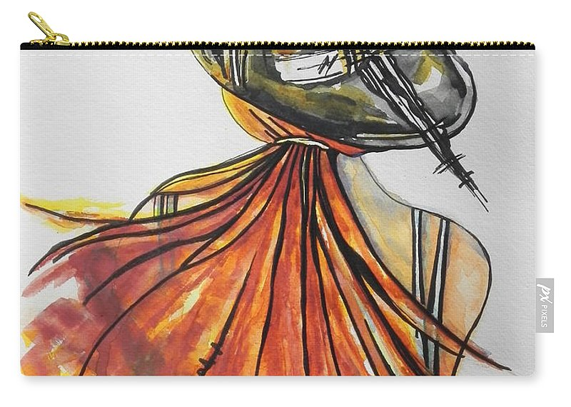 Watercolor Painting Carry-all Pouch featuring the painting What Lies Ahead Series I Found Me by Chrisann Ellis