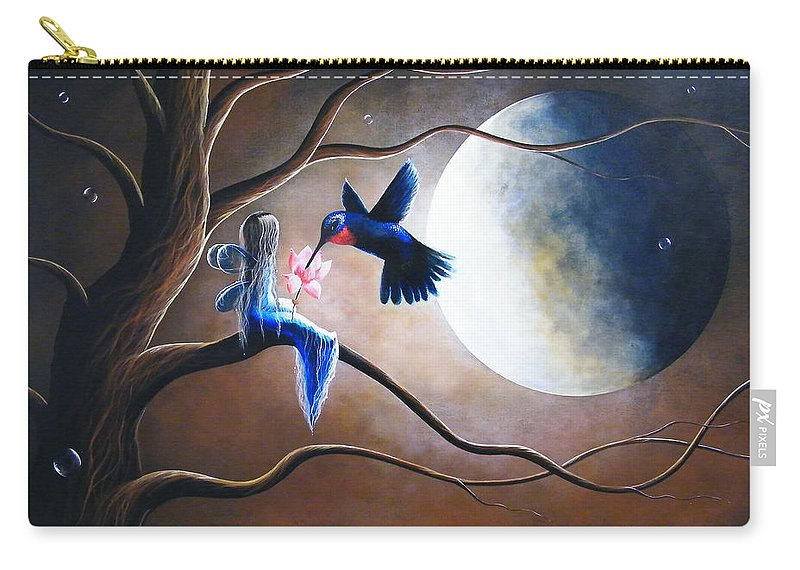 Hummingbird Carry-all Pouch featuring the painting What Love Looks Like By Shawna Erback by Erback Art